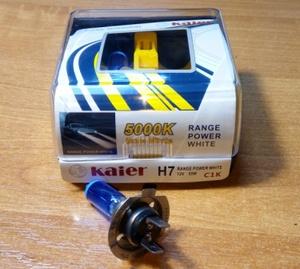 KAIER K33673 ЛАМПА К-Т H7  55W   5000K  RANGE POWER WHITE