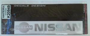 КИТАЙ K20949 НАКЛЕЙКА   Надпись NISSAN 19,0х4,0cm  надпись бел-светоотраж.