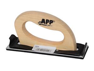 APP 150303 Инструм. шт.   Малярный Брусок шлифовальный (под наждачку) 70x170  Алюм. с ручкой и подпружин. зажимы
