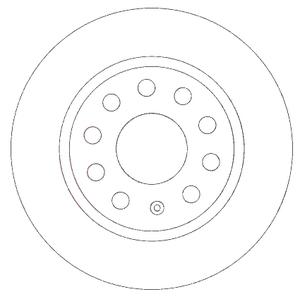 PATRON PBD4271 Диск торм.   Задн. б/в  A*A3 / SK*OC/SUP / VW*CD3/G5/TRN