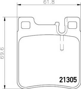 NRG N20168 КОЛОД.ДИСК. MB* W124/210/202/203  ЗАД
