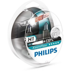 PHILIPS 12258XV -SET!!! ЛАМПА К-Т H1  55W +130%  X-tremeVision +130%  к-т2шт!!!