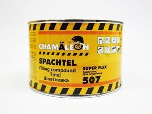 Chamaleon 15074 Шпатлёвка Flex - 0,5 кг. чёрная  2-комп. полиэфир. для пластиков