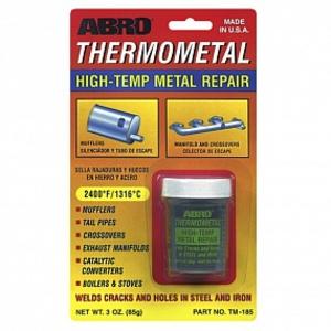 ABRO TM-185 ГЕРМЕТИК   Выхл.сис. Thermometal до +1316С (Термосталь)  Жидкий с порошком, (для сложн. рем. сист. выхлопа)