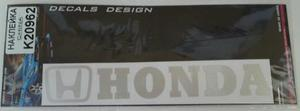 КИТАЙ K20962 НАКЛЕЙКА   Надпись HONDA 19,0х4,0cm  надпись бел светоотр.