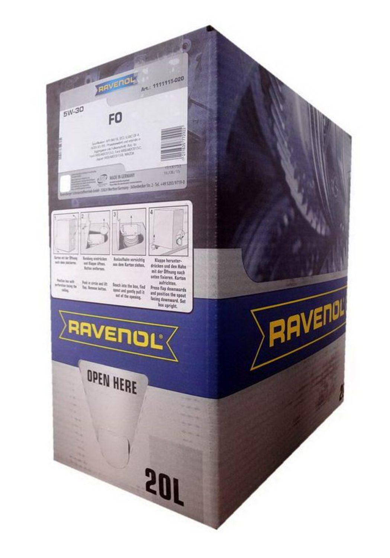 RAVENOL FO-20L Масло авто моторн.    5W30 FO  1L   (BOX 20L)  СИНТ.
