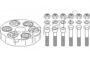 TOPRAN 400237 Муфта   Эластичная MB*201/124  пер  33*123*24  80mm, (с крепёж. болтами)
