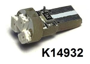 КИТАЙ K14932 Диод световой 12v   W2.3W (W2x4,6d) 1,2W Красн.  3-led Canbus  Пр.панель б/цок.