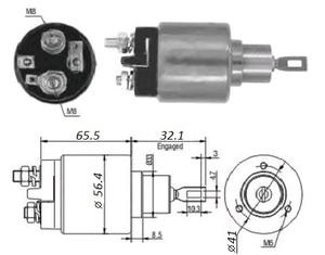 VR VR-SB0573 РЕЛЕ ВТЯГИВАЮЩЕЕ VW* 1,1/1,3 --98 / OP*CD 1,8 2,0 --91,V  под конт см.131586 / ZM573