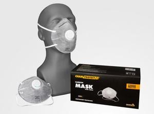 Chamaleon 80102 Средство защиты   Орг.дыхания Маска от пыли с клапаном  FFP2 серые  Гипоаллергенный, угольн.фильтр