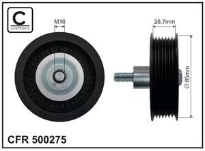 CAFFARO 500-275 Ролик   Руч.рем. MB*CDI / F*TRS параз.  7-руч.