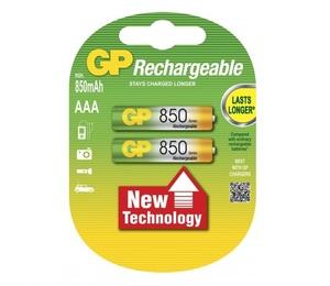 GP 85AAA U2 Батарейка   Аккумуляторная 85AAA U2  NiMh (500 цикл. заряд/разр.)   1.2V 850 мАч (в блист. 2шт.)