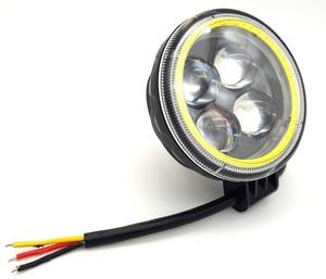 КИТАЙ K34916 Фара   Пр./Тум. Диод.   4-LED КРУГ (мал).   (линза) + круг габарит.