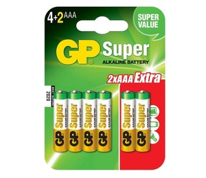 GP 24A4/2 UE6 Батарейка   Стандартные ALKALINE 24A UE6   1.5V 1150 мАч (в блист. 6шт.)