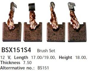 CARGO BSX151S4 Щётка   Стартера MB*BUS 208-410D SPR  7,5-18-19