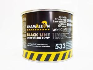 Chamaleon 15334 Шпатлёвка Glasfaserlight - 500 мл=1кг. (со сотекловол.)  Мягкая, лёгкая, мелкозерн.(сразу под грунт)
