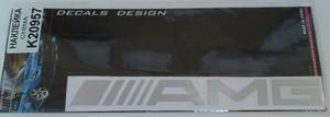 КИТАЙ K20957 НАКЛЕЙКА   Надпись AMG 19,0х4,0cm  надпись бел светотр