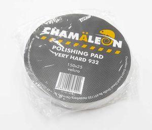 Chamaleon 49320 Абразивы   Губка Полировальная на липучку D=150mm  Белый плоск. очень жёстк. 150*25мм