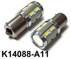 КИТАЙ K14088-A11 Диод световой 12v   P21W (BA15s) P21W  Бел. 1-уров/симм. 13-led,