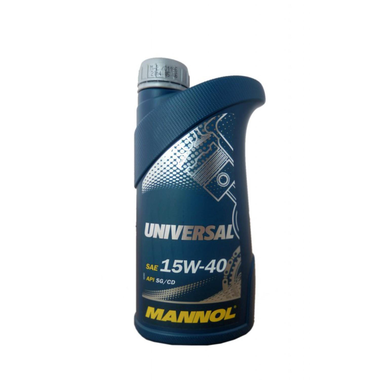 MANNOL UNIV-1L Масло авто моторн.   15W40 UNIVERSAL SG-CD   1L  Минерал.