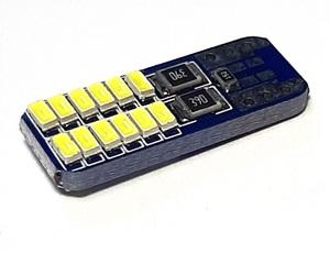 КИТАЙ K26222 Диод световой 12v   W3W (W2,1x9,5d) Бел. 24-led  Габ. б/цок.